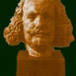 Busto de Quevedo en la BNE