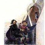 Dibujo de Joan Mundet en Alatriste  5