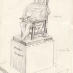 Dibujo-del-escultor-García-Donaire-para-estatua-en-Torre-de-Juan-Abad