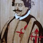 Quevedo en madera por Miguel Ángel Rabadán