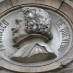 Quevedo medallón de la Biblioteca Nacional