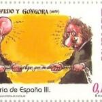 Sello de Quevedo, España 2002, Dibujo de Gallego y Rey